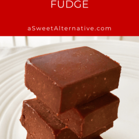 Some hunks of fudge stacked on top of each other.