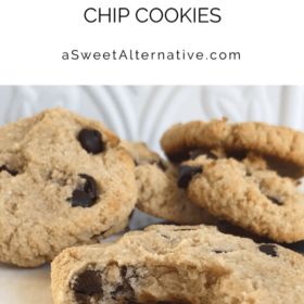 A pile of cookies on a white plate.