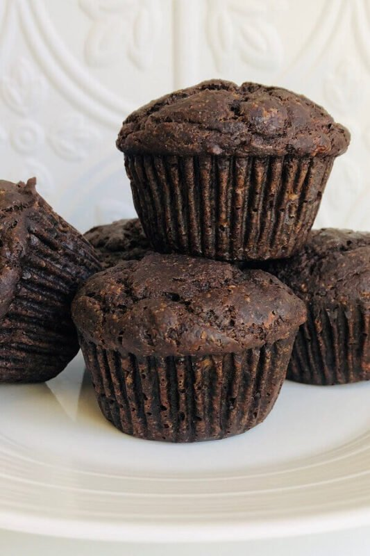Muffins on a plate.