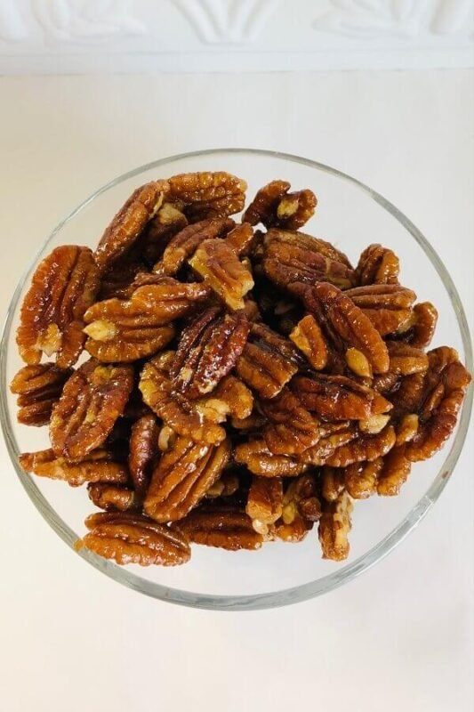 Pecans in a bowl.