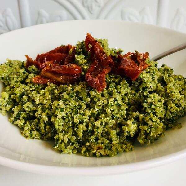 Quinoa in a bowl.