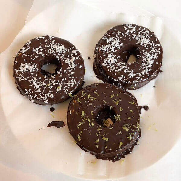 Pineapple rings coated in chocolate.