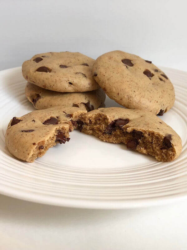 Warm cookies on a plate.